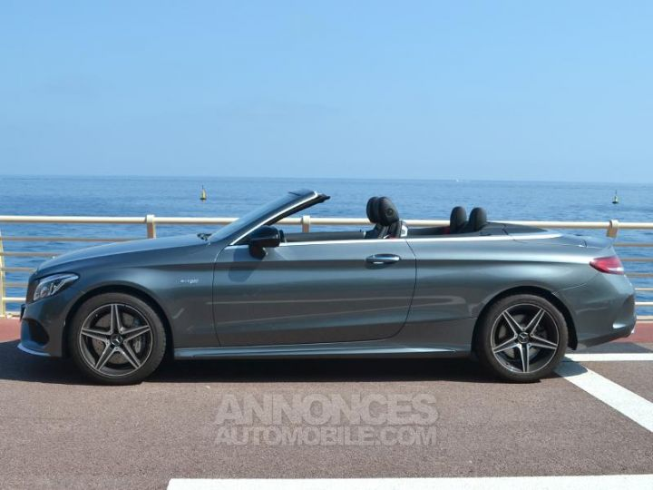 Mercedes Classe C Cabriolet 43 AMG 367ch 4Matic 9G-Tronic Gris Selenite Occasion - 8