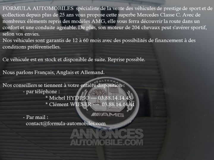 Mercedes Classe C Coupe Sport 250 CDI EXECUTIVE 7GTRONIC NOIR Occasion - 2