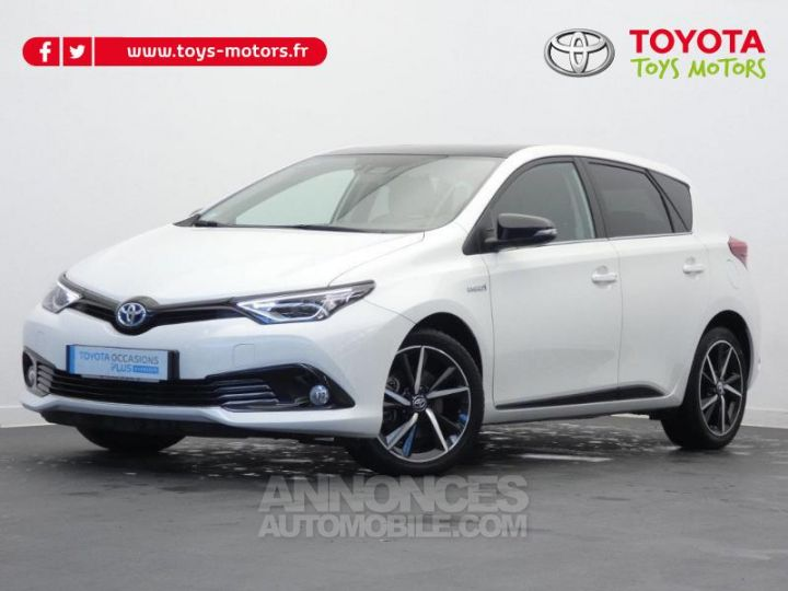 Toyota AURIS HSD 136h Collection BI TON BLANC NACRE   NOIR Occasion - 1