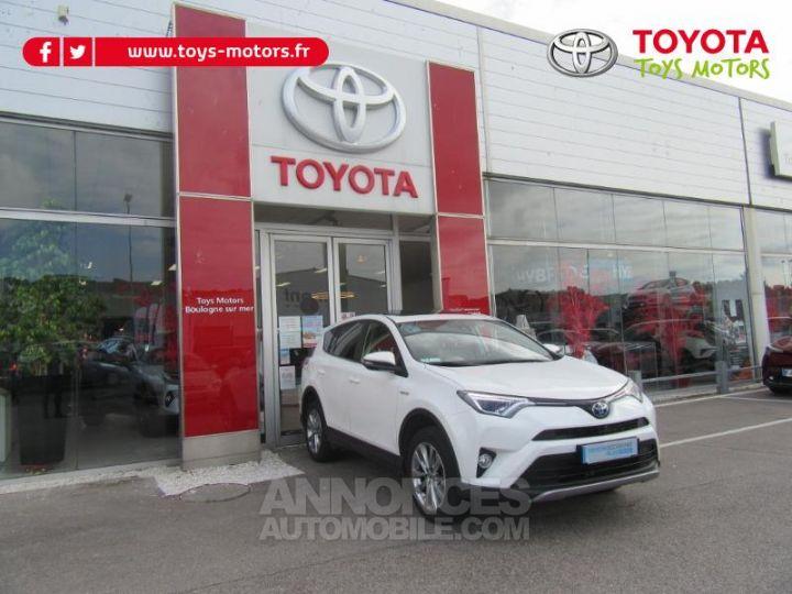 Toyota RAV4 197 Hybride Lounge AWD CVT BLANC Occasion - 3