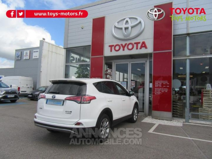 Toyota RAV4 197 Hybride Lounge AWD CVT BLANC Occasion - 5