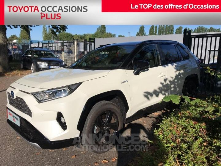 Toyota RAV4 Hybride 218ch Collection 2WD BLANC Occasion - 1