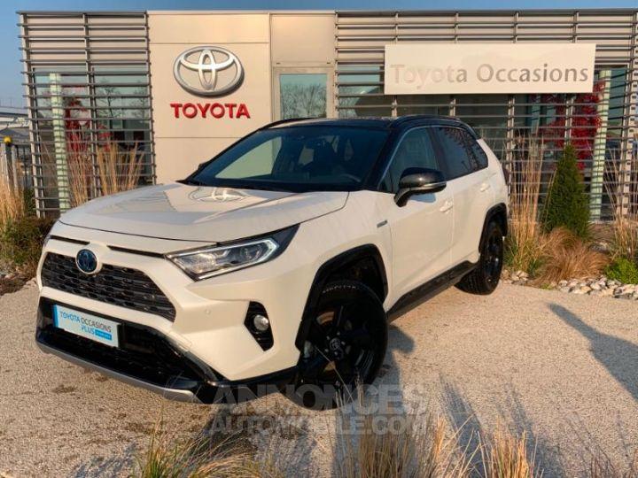Toyota RAV4 Hybride 218ch Premi BI TON BLANC NACRE NOIR ATTITU Occasion - 1