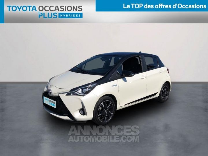 Toyota YARIS 100h Collection 5p BLANC Occasion - 1