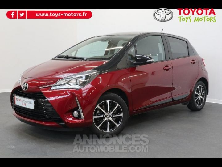 Toyota YARIS 110 VVT-i Design 5p biton rouge/noir Occasion - 1