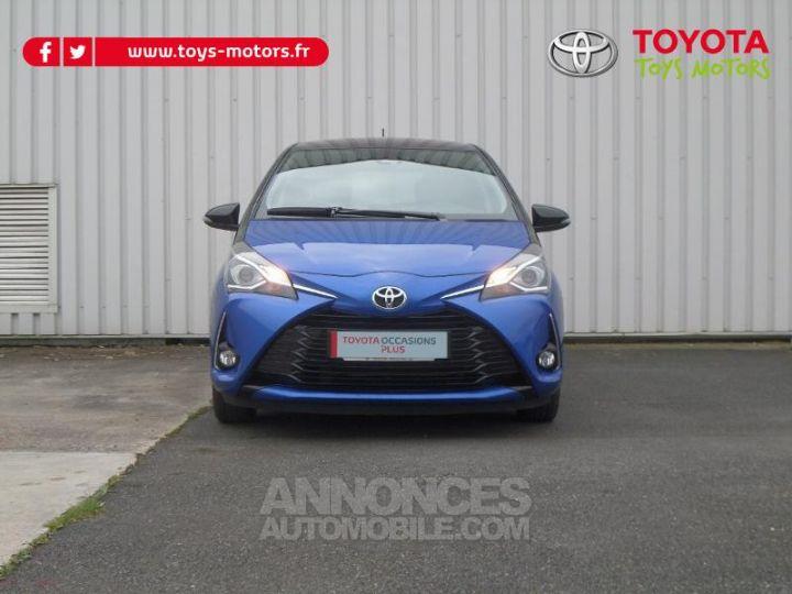 Toyota YARIS 110 VVT-i Design 5p RC18 BI TON BLEU NEBULA   NOIR Occasion - 2