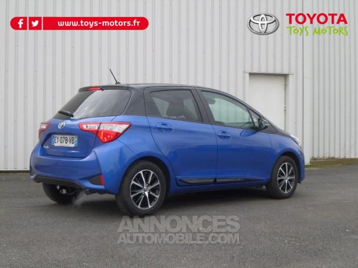 Toyota YARIS 110 VVT-i Design 5p RC18 BI TON BLEU NEBULA   NOIR Occasion - 5