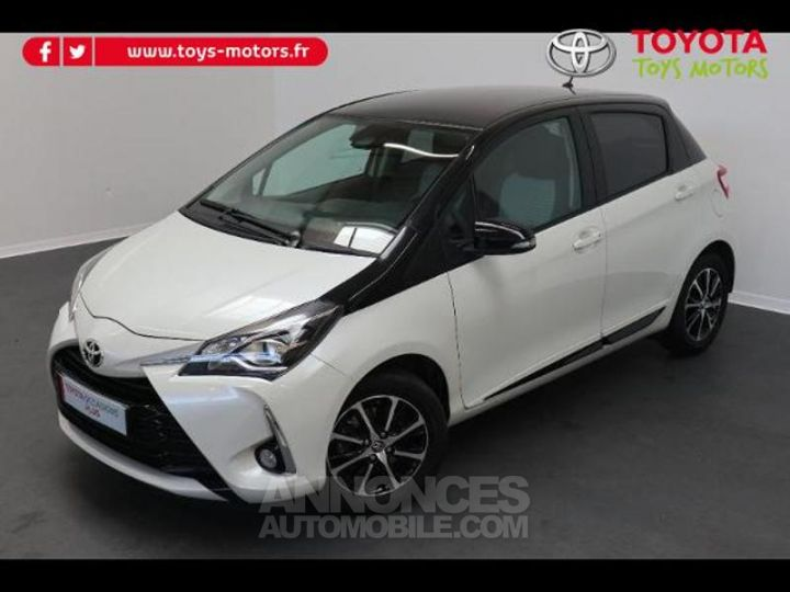 Toyota YARIS 110 VVT-i Design 5p RC18 BI TON BLANC NACRE   NOIR Occasion - 1