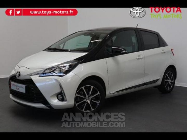 Toyota YARIS 110 VVT-i Design 5p RC18 BI TON BLANC NACRE   NOIR Occasion - 2