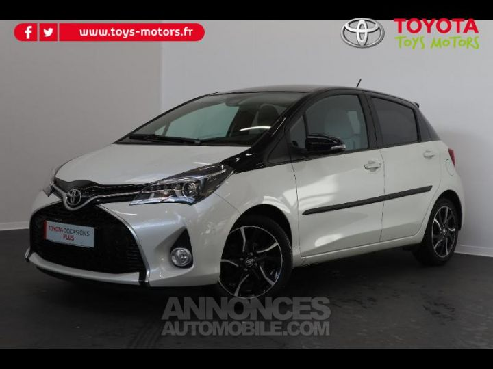 Toyota YARIS 90 D-4D Collection 5p BLANC NACRE Occasion - 1