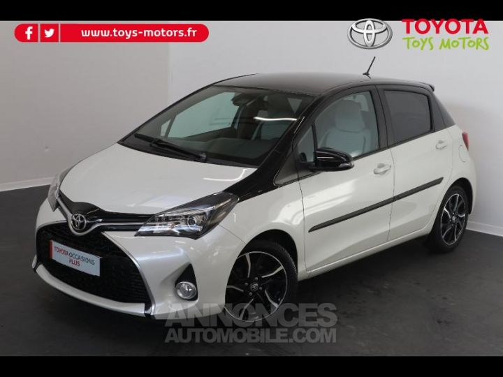 Toyota YARIS 90 D-4D Collection 5p BLANC NACRE Occasion - 3