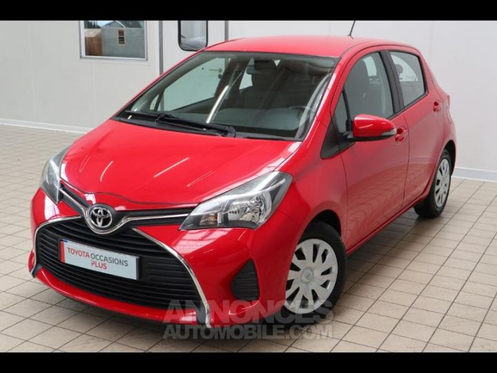 Toyota YARIS 90 D-4D France 5p ROUGE Occasion - 1