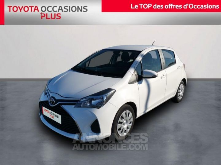 Toyota YARIS 90 D-4D France 5p BLANC PUR Occasion - 1