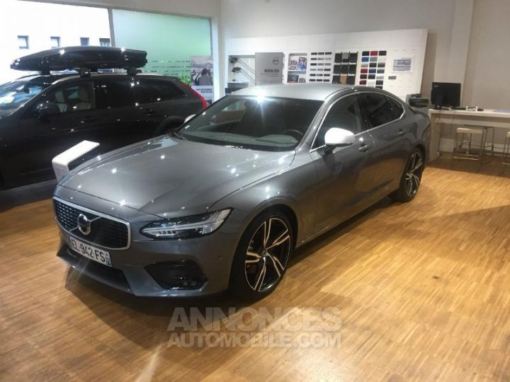 Volvo S90 D4 190ch R-Design Geartronic Gris Osmium Metallise Occasion - 1