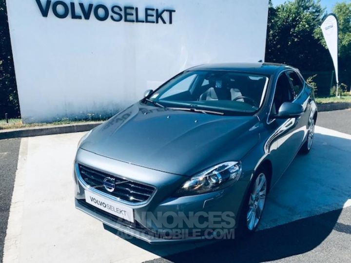 Volvo V40 D3 150ch Xenium Geartronic GRIS TITANE Occasion - 1