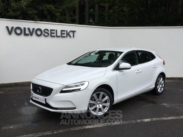 Volvo V40 T3 152ch Inscription Geartronic Blanc Glace 614 Occasion - 1