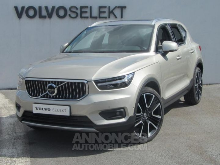 Volvo XC40 D4 AdBlue AWD 190ch Inscription Luxe Geartronic 8 Sable lumineux Occasion - 1