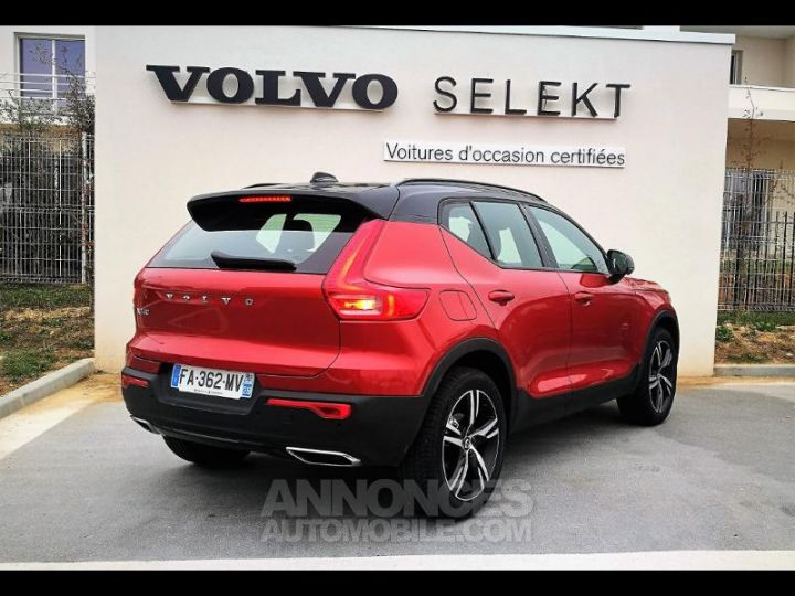 Volvo XC40 D4 AdBlue AWD 190ch R-Design Geartronic 8 Rouge Métal Occasion - 2