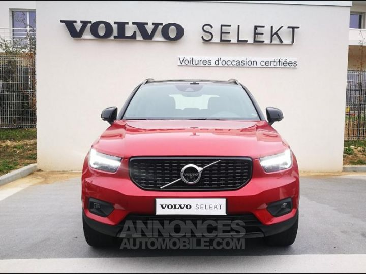 Volvo XC40 D4 AdBlue AWD 190ch R-Design Geartronic 8 Rouge Métal Occasion - 3