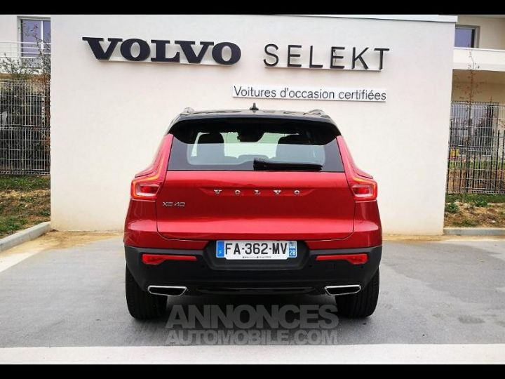 Volvo XC40 D4 AdBlue AWD 190ch R-Design Geartronic 8 Rouge Métal Occasion - 4