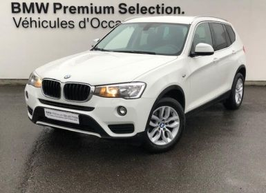 BMW X3 sDrive18d 150ch Lounge Plus Occasion