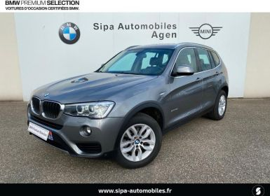 Vente BMW X3 sDrive18dA 150ch Lounge Plus Start Edition Occasion