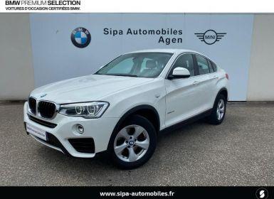 Vente BMW X4 xDrive20d 190ch Lounge Plus Occasion