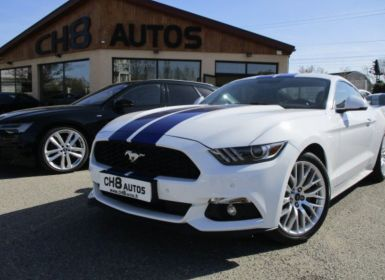 Achat Ford Mustang 2.3 Ecoboost blanche Bandes Bleues Navi sync 3 Pack premium Malus paye Occasion