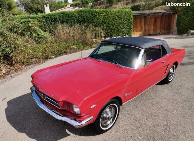 Vente Ford Mustang Ford Mustang Cabriolet 1965 Code C Occasion