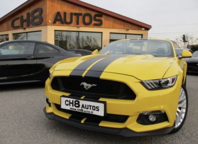 Vente Ford Mustang v8 5.0 gt cabriolet pack premium boite auto 29000kms jaune bandes noir Occasion