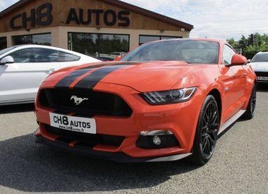 Vente Ford Mustang v8 5.0 gt fastback orange bandes noir jantes noir pack premium Occasion