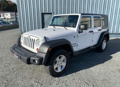 Achat Jeep Wrangler WRANGLER UNLIMITED 2.8 CRD 200 SPORT Occasion