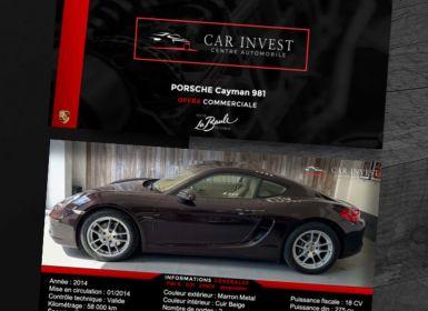 Vente Porsche Cayman 2.7 Occasion