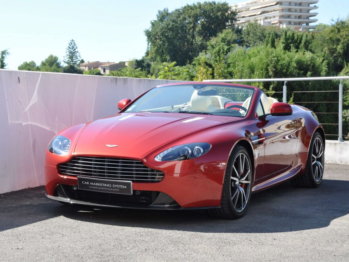 Aston Martin V8 Vantage S Roadster V8 Sportshift Rouge Bordeaux - 1