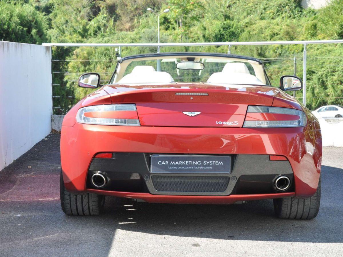 Aston Martin V8 Vantage S Roadster V8 Sportshift Rouge Bordeaux - 7