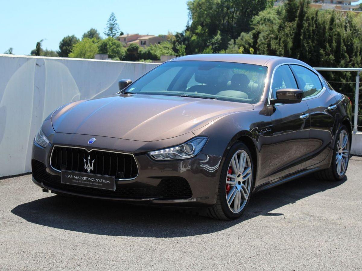 Maserati Ghibli 3.0 V6 410 S Q4 Marron - 1
