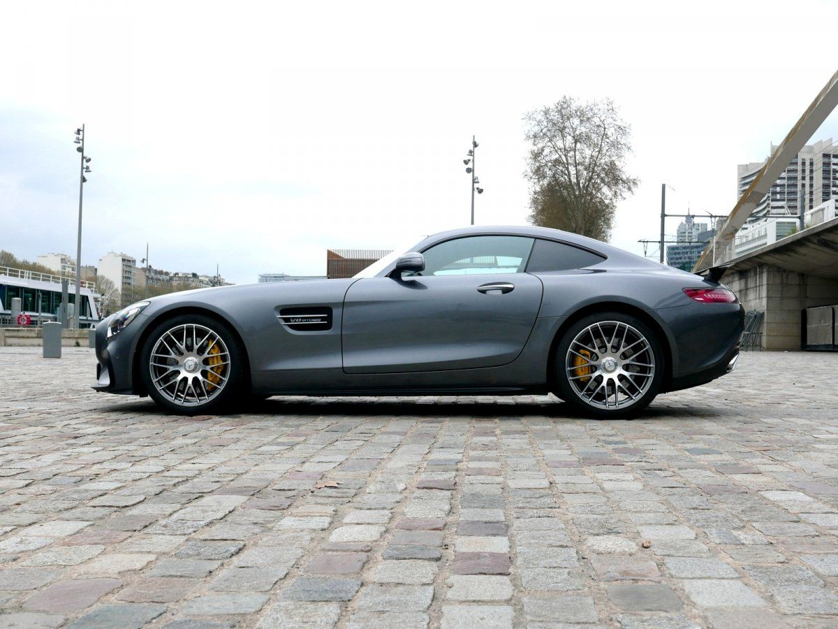 Mercedes AMG GT 4.0 V8 Biturbo 462 Speedshift 7 Edition One Gris anthracite métallisé Occasion - 8