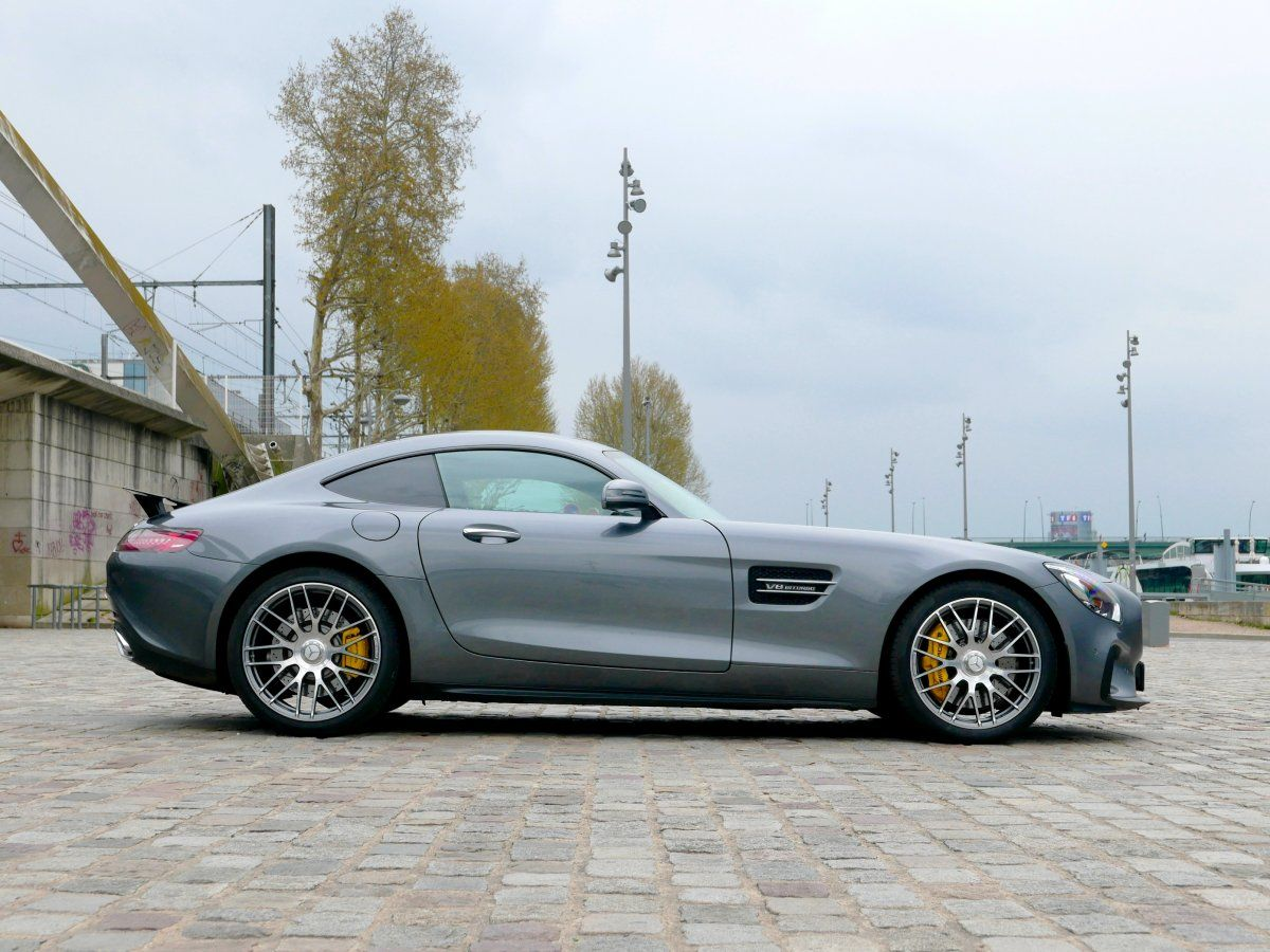 Mercedes AMG GT 4.0 V8 Biturbo 462 Speedshift 7 Edition One Gris anthracite métallisé Occasion - 4