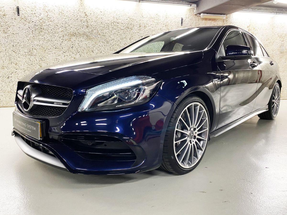Mercedes Classe A 45 Mercedes-AMG Speedshift DCT 4Matic Bleu Foncé Métallisé - 1