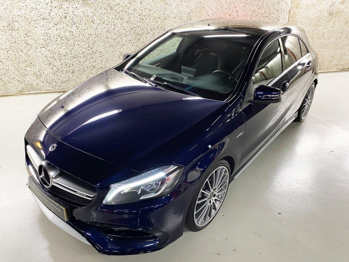Mercedes Classe A 45 Mercedes-AMG Speedshift DCT 4Matic Bleu Foncé Métallisé - 3