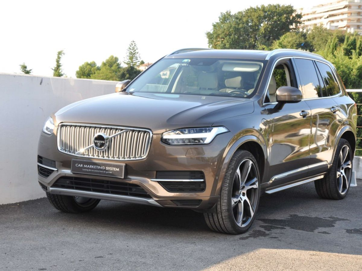 Volvo XC90 T8 HYBRID Twin Engine 320+87 Ch Geartronic 7 Places Momentum Marron - 1