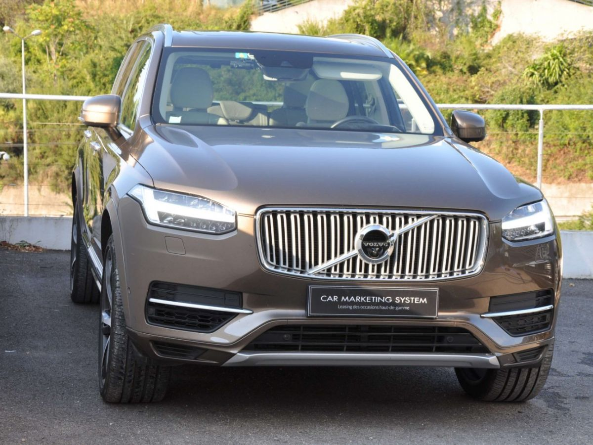 Volvo XC90 T8 HYBRID Twin Engine 320+87 Ch Geartronic 7 Places Momentum Marron - 3
