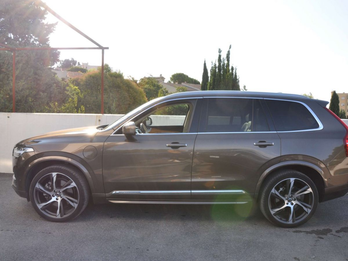 Volvo XC90 T8 HYBRID Twin Engine 320+87 Ch Geartronic 7 Places Momentum Marron - 4