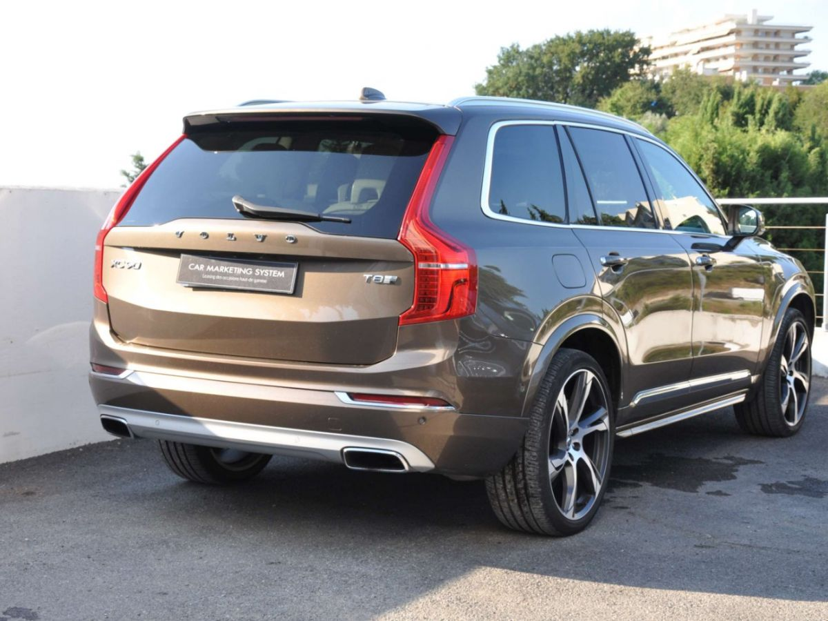 Volvo XC90 T8 HYBRID Twin Engine 320+87 Ch Geartronic 7 Places Momentum Marron - 5