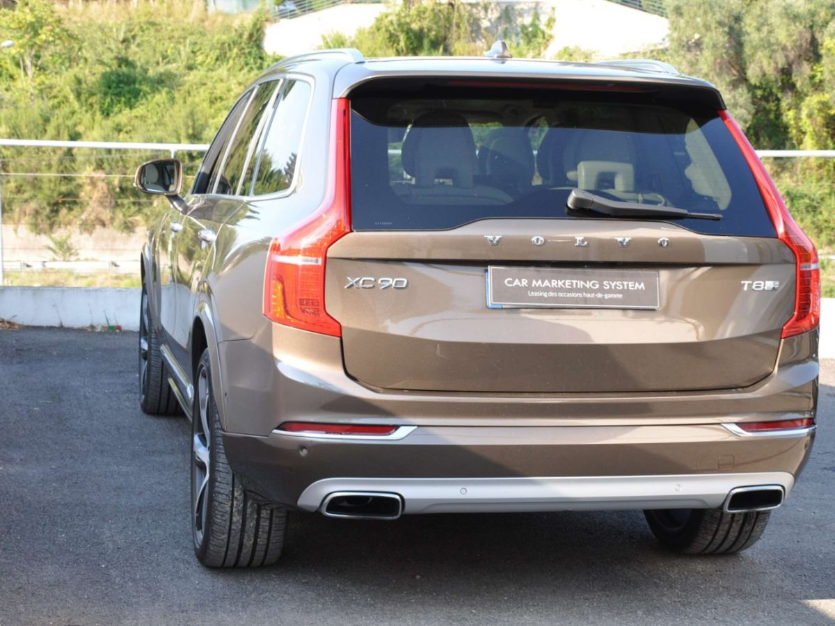 Volvo XC90 T8 HYBRID Twin Engine 320+87 Ch Geartronic 7 Places Momentum Marron - 7