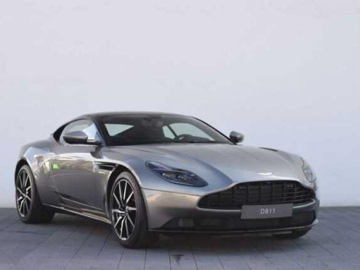 Aston Martin DB11 V8 #PACK BLACK PLUS#PACK TECHNOLOGY# Tungsten Silver métal - 1