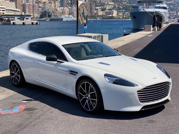 Aston Martin Rapide V12 6.0 S 558 CV - MONACO Blanc  - 3