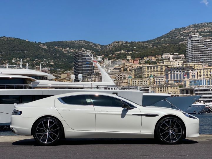 Aston Martin Rapide V12 6.0 S 558 CV - MONACO Blanc  - 4