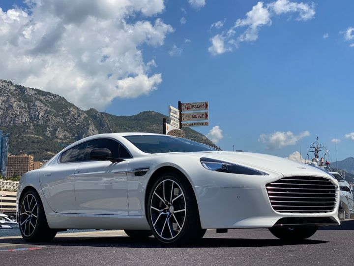Aston Martin Rapide V12 6.0 S 558 CV - MONACO Blanc  - 5