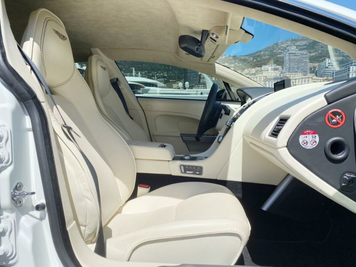 Aston Martin Rapide V12 6.0 S 558 CV - MONACO Blanc  - 7